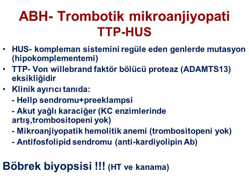 ABH- Trombotik mikroanjiyopati TTP-HUS