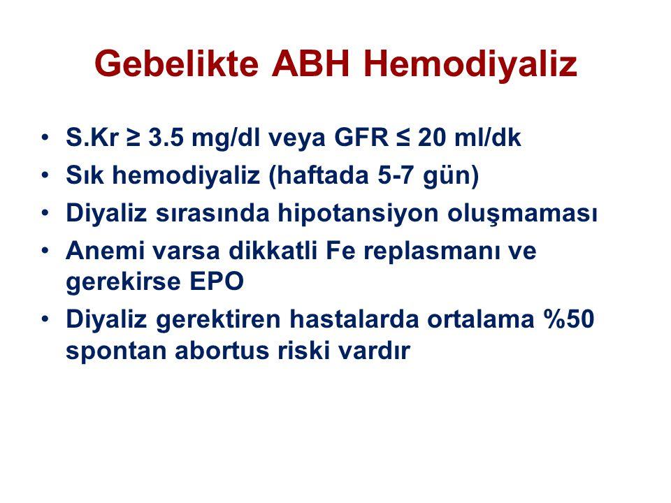 Gebelikte ABH Hemodiyaliz