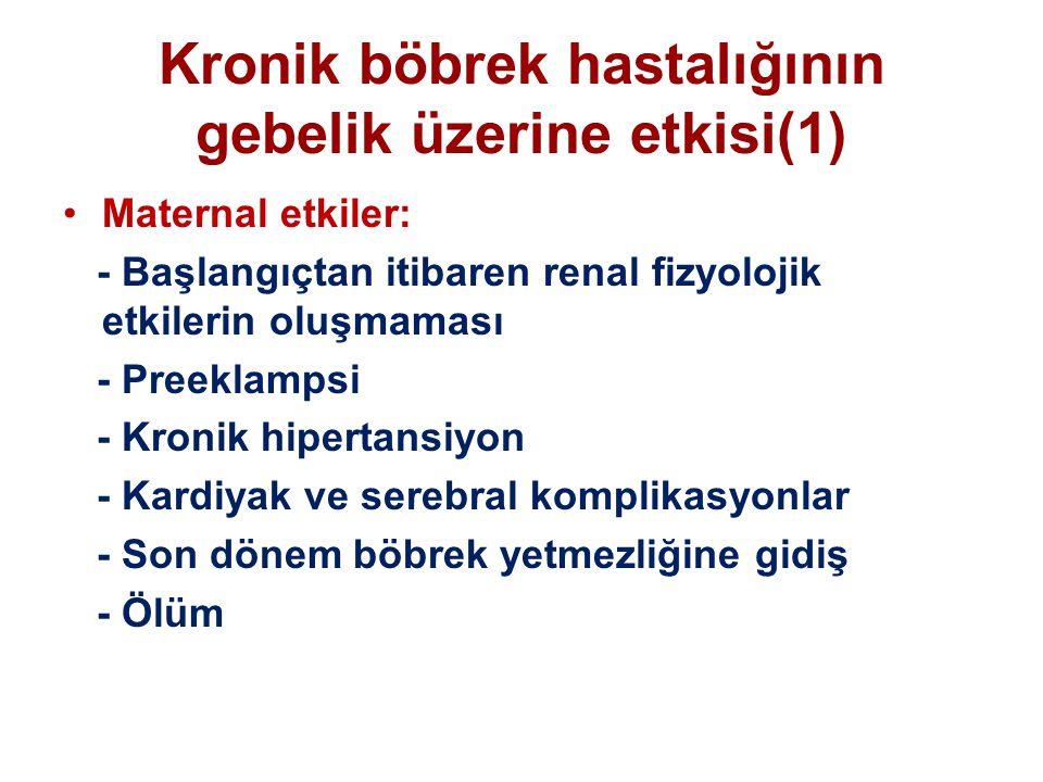 Kronik böbrek hastalığının gebelik üzerine etkisi(1)