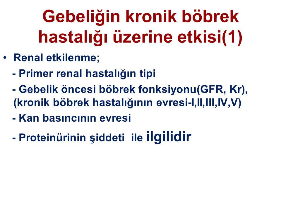 Gebeliğin kronik böbrek hastalığı üzerine etkisi(1)