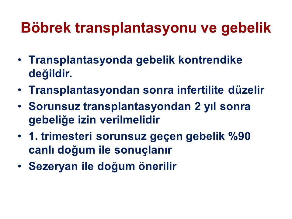 Böbrek transplantasyonu ve gebelik