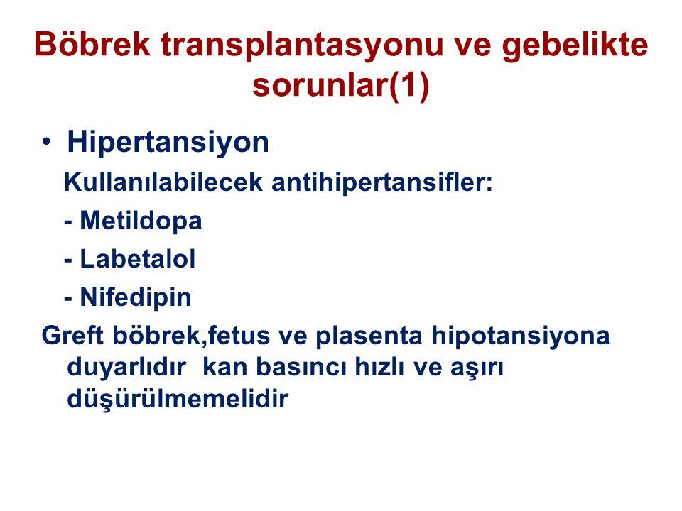 Böbrek transplantasyonu ve gebelikte sorunlar(1)