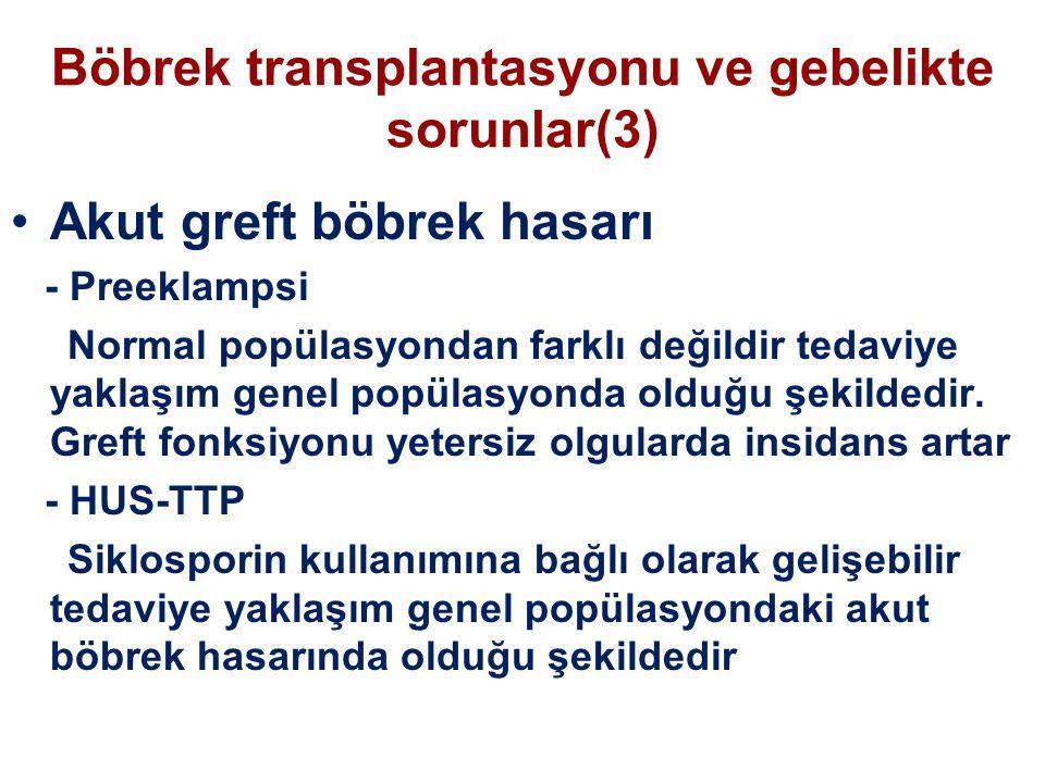Böbrek transplantasyonu ve gebelikte sorunlar(3)