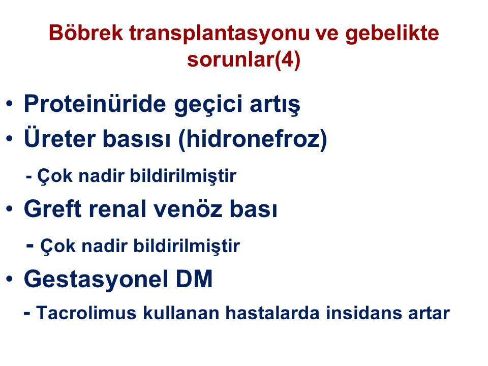 Böbrek transplantasyonu ve gebelikte sorunlar(4)