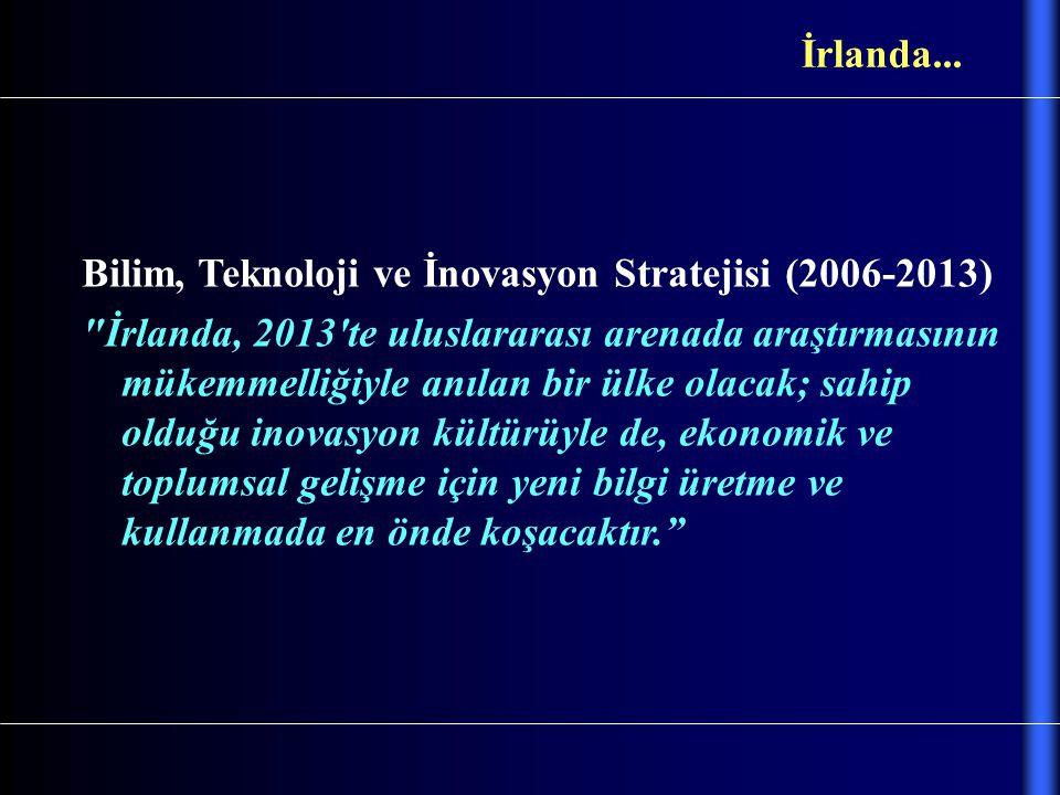 İrlanda... Bilim, Teknoloji ve İnovasyon Stratejisi (2006-2013)