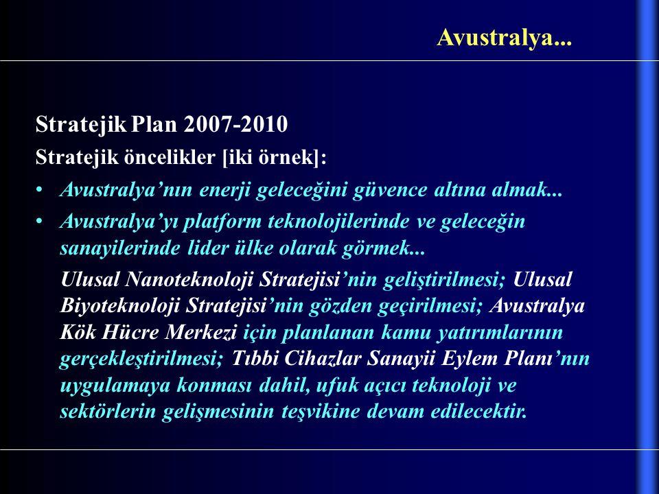Avustralya... Stratejik Plan 2007-2010