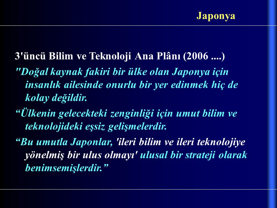 Japonya 3 üncü Bilim ve Teknoloji Ana Plânı (2006 ....)