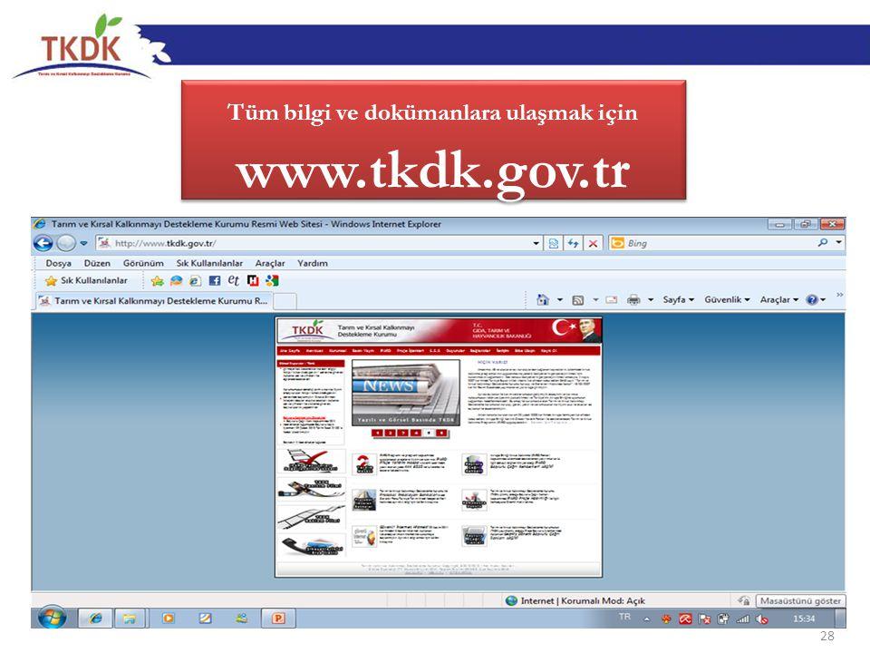 Tüm bilgi ve dokümanlara ulaşmak için www.tkdk.gov.tr