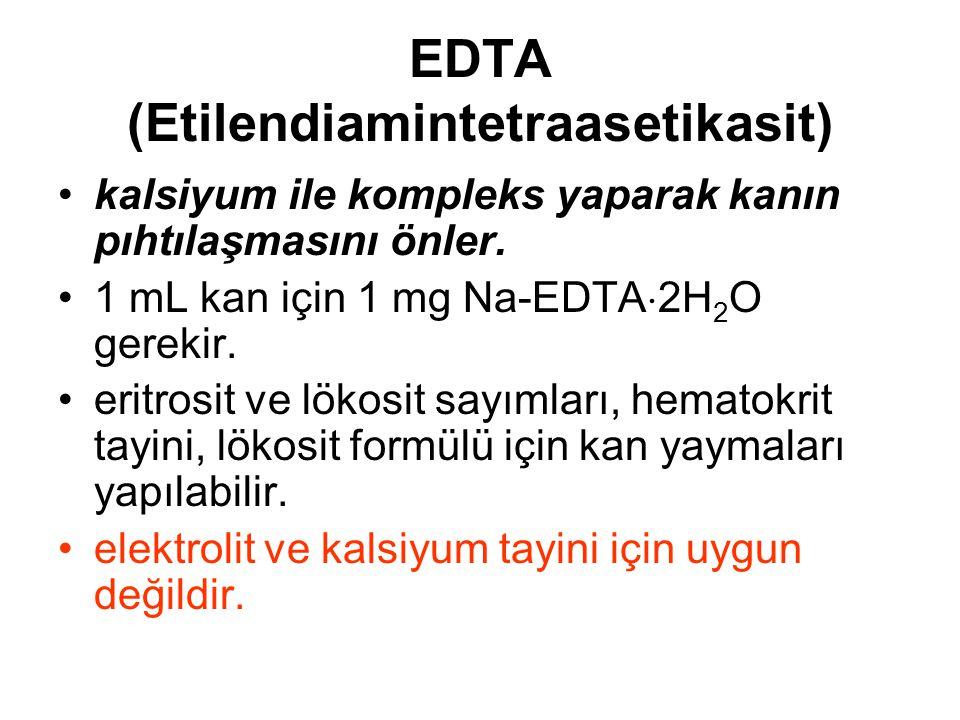 EDTA (Etilendiamintetraasetikasit)