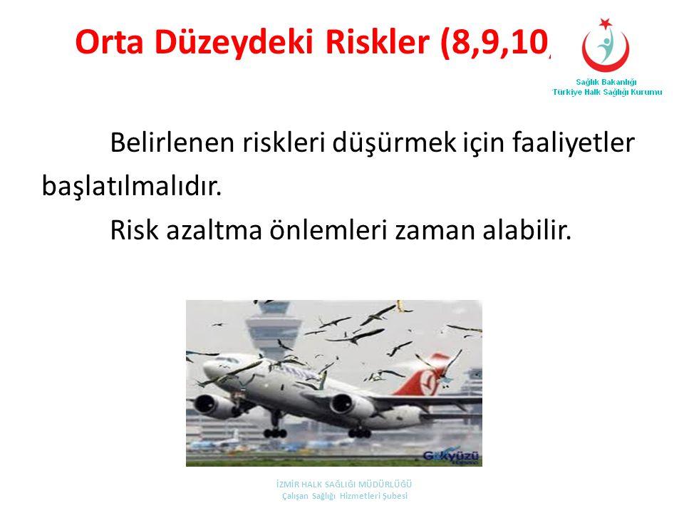 Orta Düzeydeki Riskler (8,9,10,12)