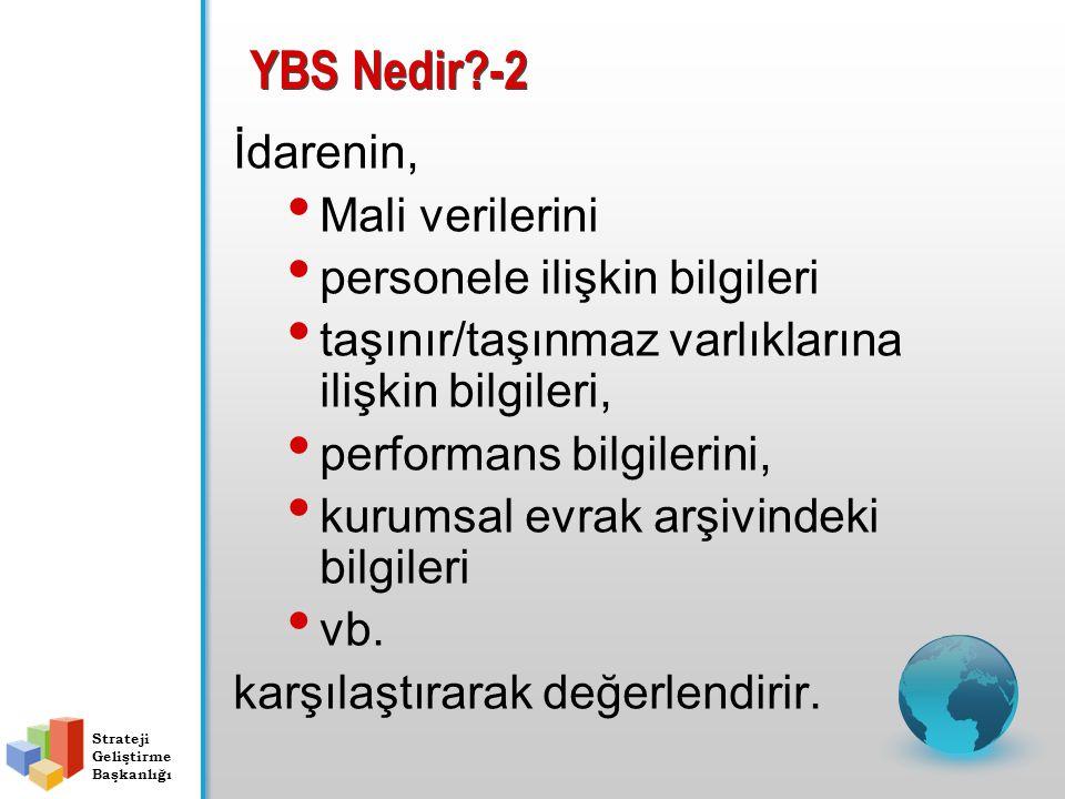 YBS Nedir -2 İdarenin, Mali verilerini personele ilişkin bilgileri