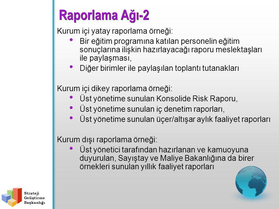 Raporlama Ağı-2 Kurum içi yatay raporlama örneği:
