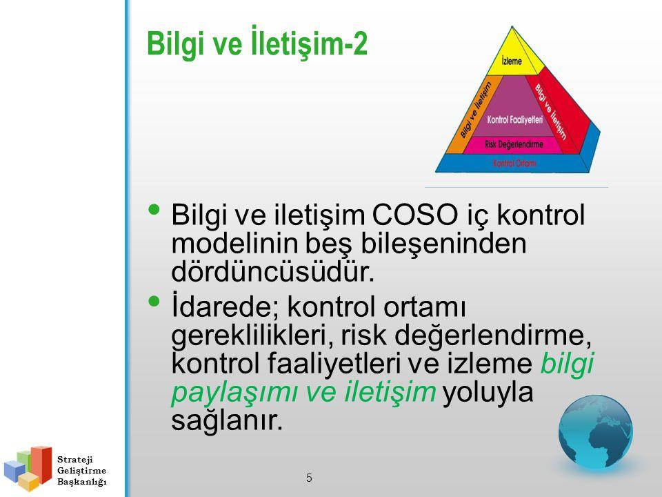 Bilgi ve İletişim-2 Bilgi ve iletişim COSO iç kontrol modelinin beş bileşeninden dördüncüsüdür.