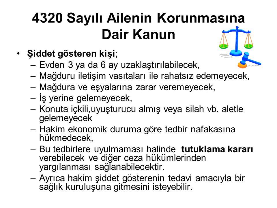 4320 Sayılı Ailenin Korunmasına Dair Kanun