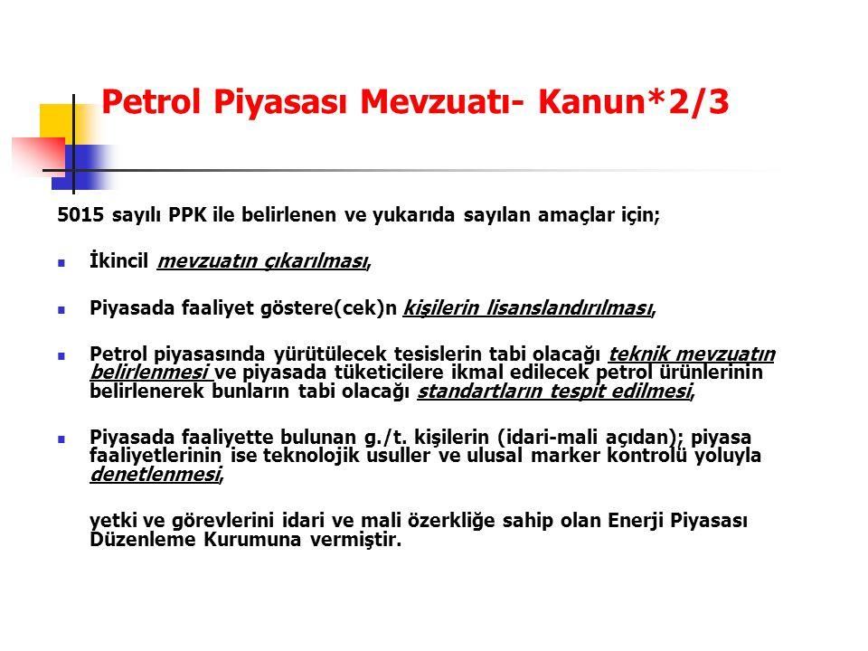 Petrol Piyasası Mevzuatı- Kanun*2/3