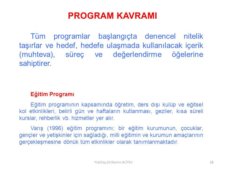PROGRAM KAVRAMI