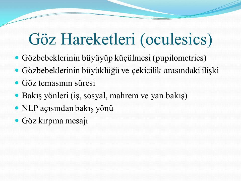 Göz Hareketleri (oculesics)