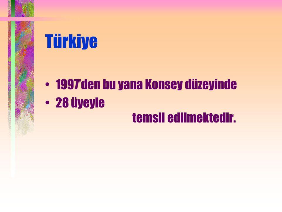 Türkiye 1997'den bu yana Konsey düzeyinde