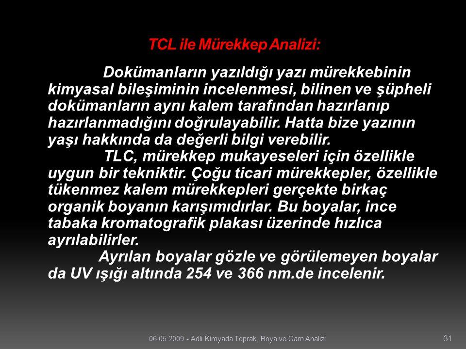 TCL ile Mürekkep Analizi: