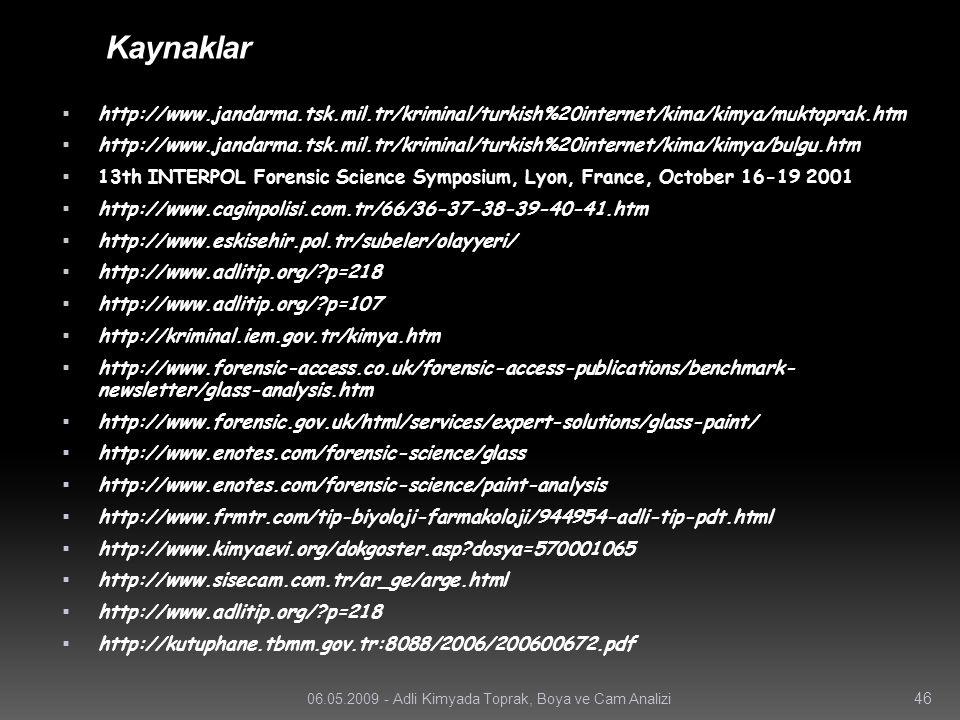 Kaynaklar http://www.jandarma.tsk.mil.tr/kriminal/turkish%20internet/kima/kimya/muktoprak.htm.