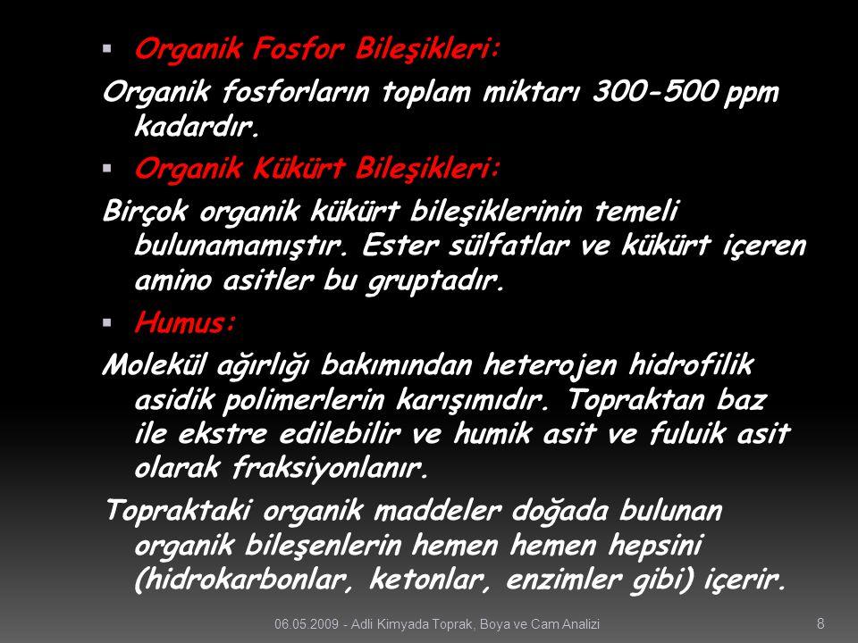 Organik Fosfor Bileşikleri: