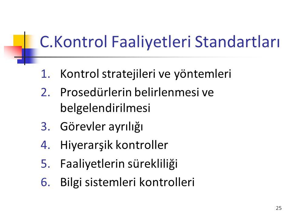 C.Kontrol Faaliyetleri Standartları