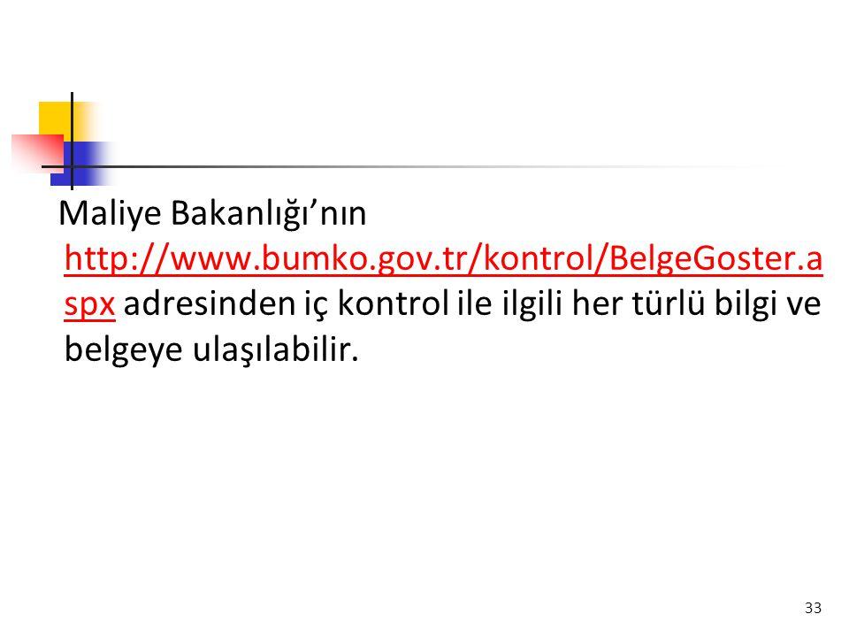 Maliye Bakanlığı'nın http://www. bumko. gov. tr/kontrol/BelgeGoster