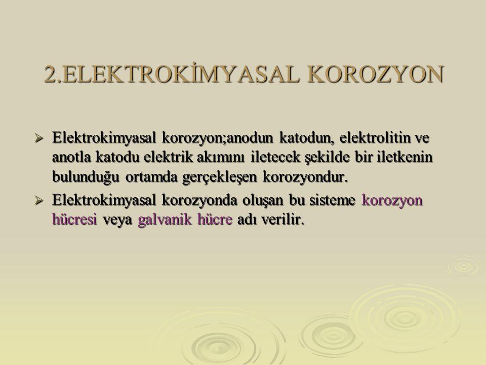 2.ELEKTROKİMYASAL KOROZYON