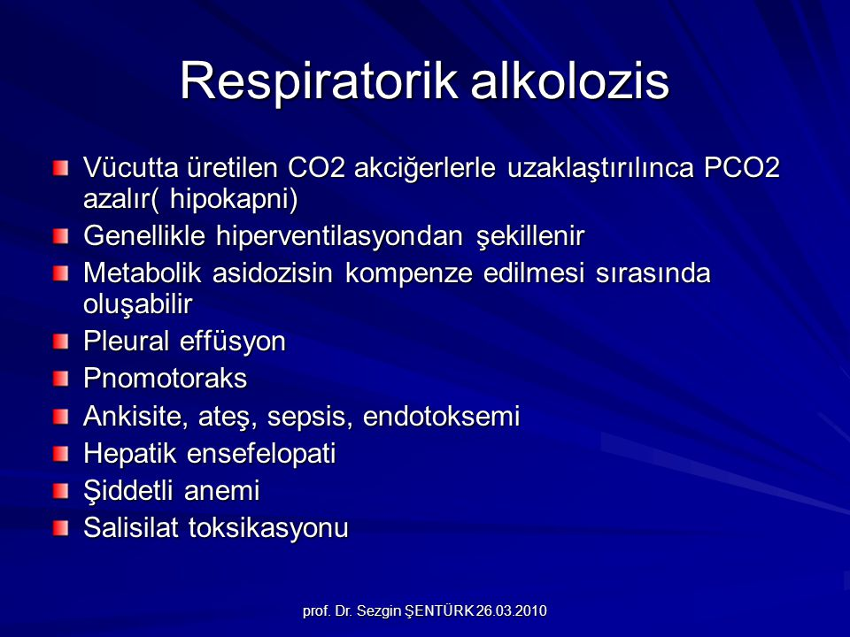 Respiratorik alkolozis