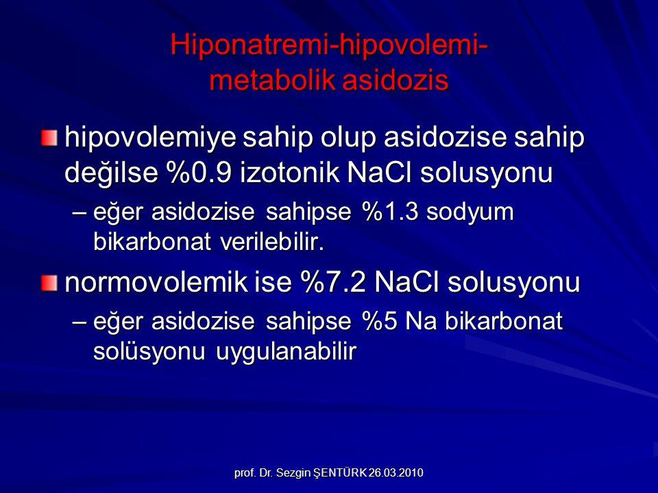 Hiponatremi-hipovolemi- metabolik asidozis