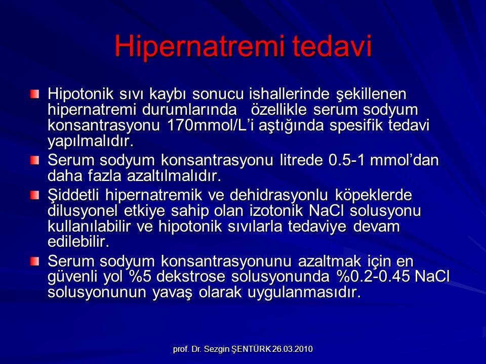 Hipernatremi tedavi