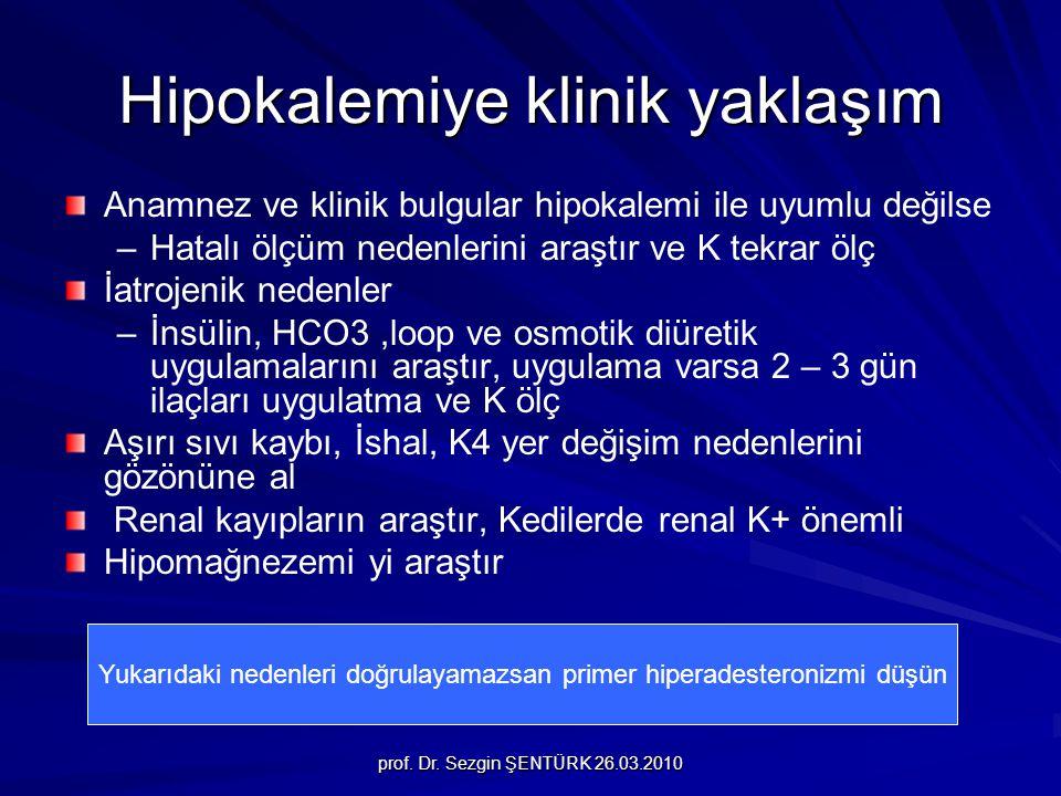 Hipokalemiye klinik yaklaşım