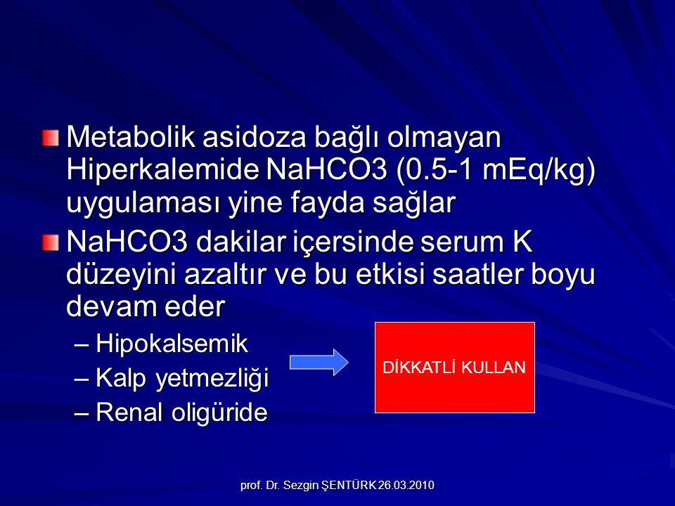 Metabolik asidoza bağlı olmayan Hiperkalemide NaHCO3 (0