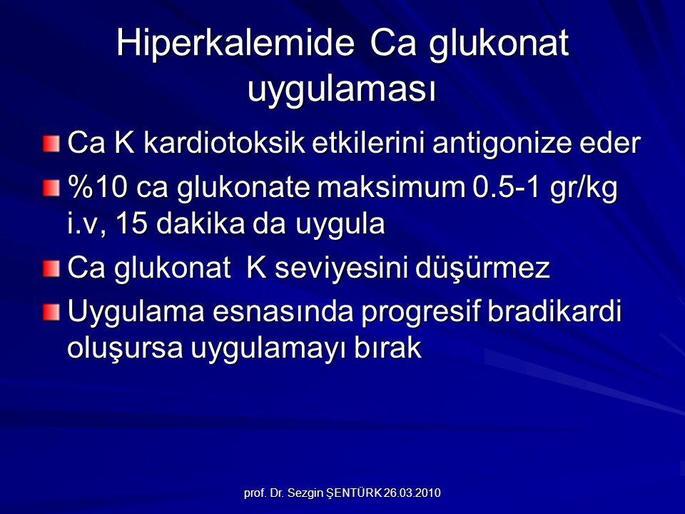 Hiperkalemide Ca glukonat uygulaması