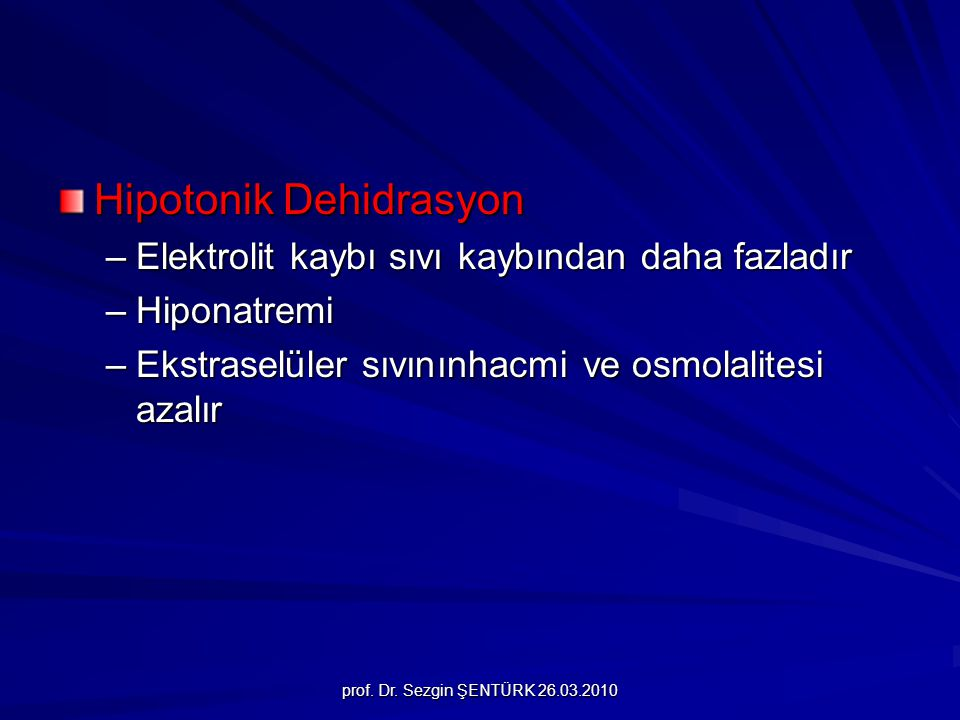 Hipotonik Dehidrasyon