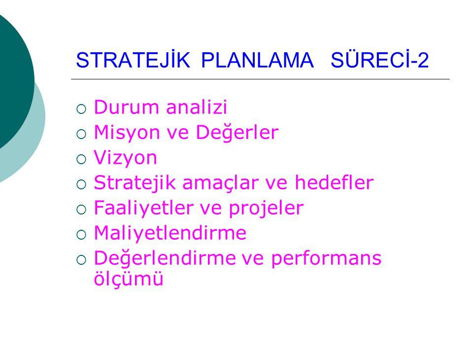 STRATEJİK PLANLAMA SÜRECİ-2