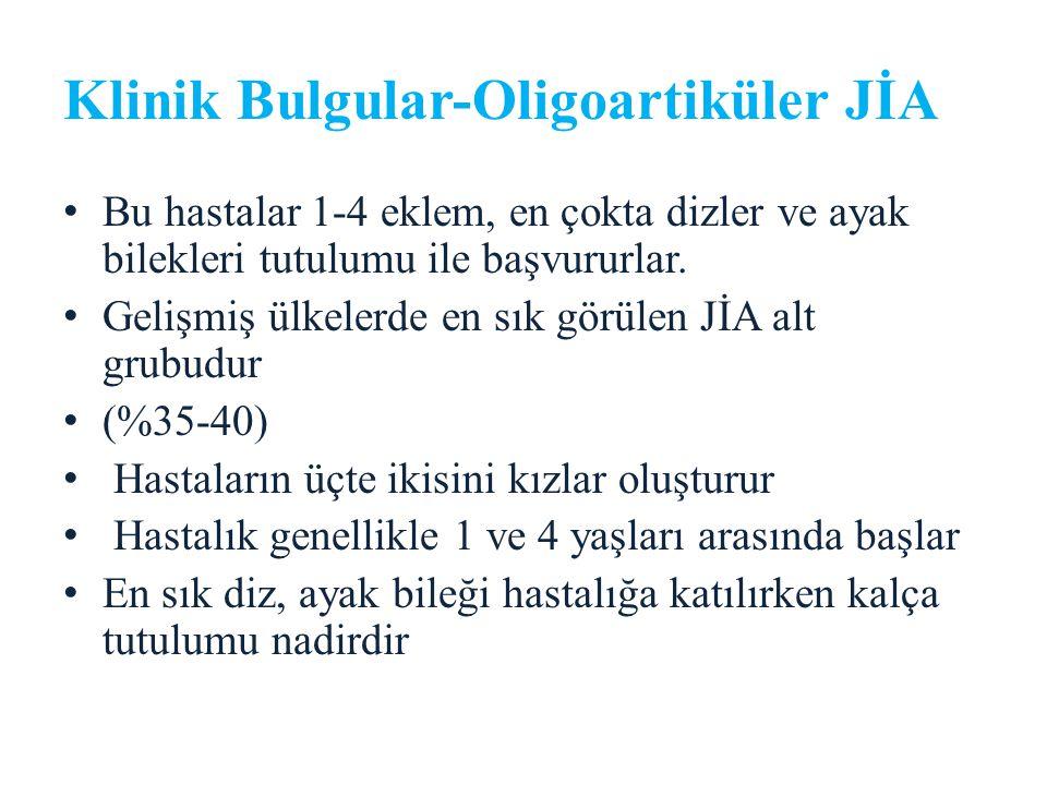 Klinik Bulgular-Oligoartiküler JİA