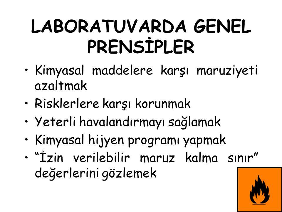 LABORATUVARDA GENEL PRENSİPLER