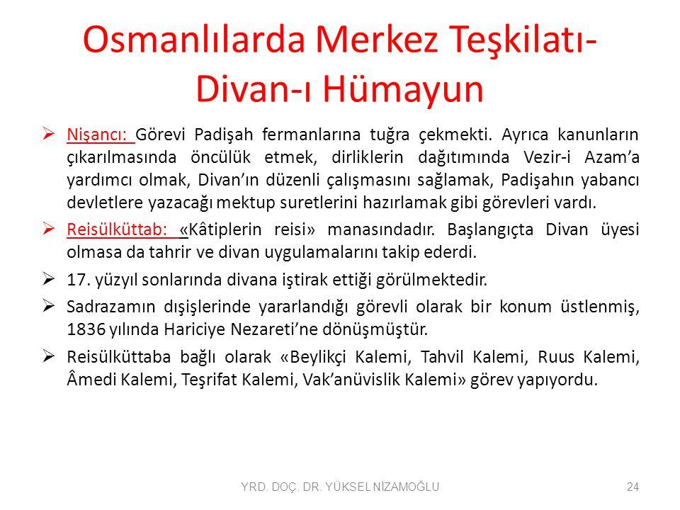 Osmanlılarda Merkez Teşkilatı-Divan-ı Hümayun