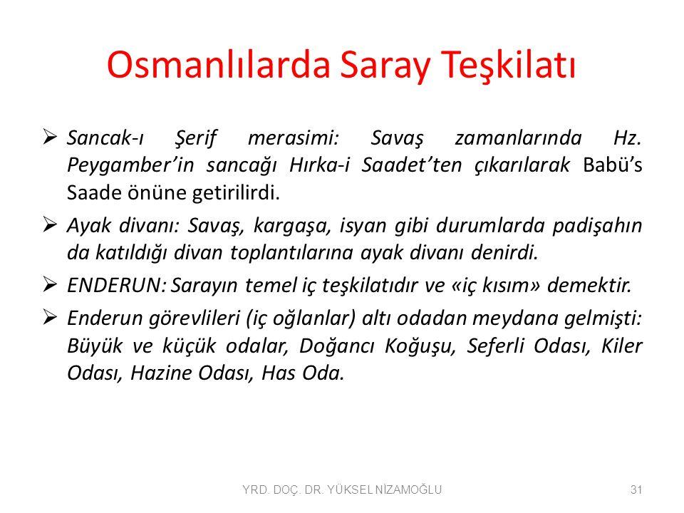 Osmanlılarda Saray Teşkilatı