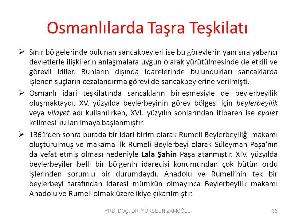 Osmanlılarda Taşra Teşkilatı