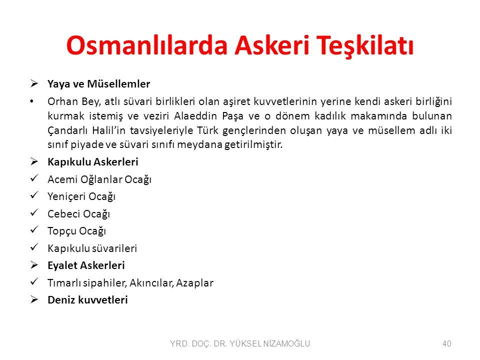 Osmanlılarda Askeri Teşkilatı