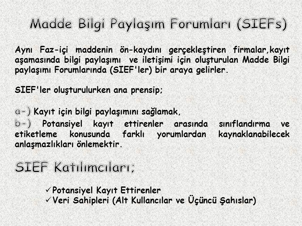Madde Bilgi Paylaşım Forumları (SIEFs)