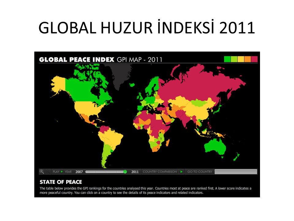 GLOBAL HUZUR İNDEKSİ 2011