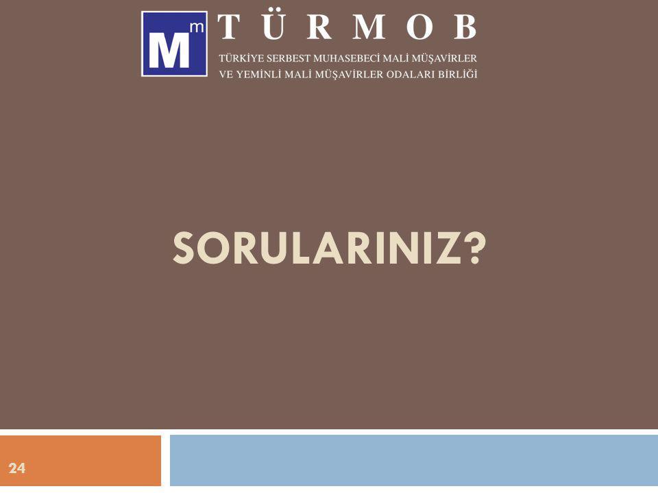 SORULARINIZ 24
