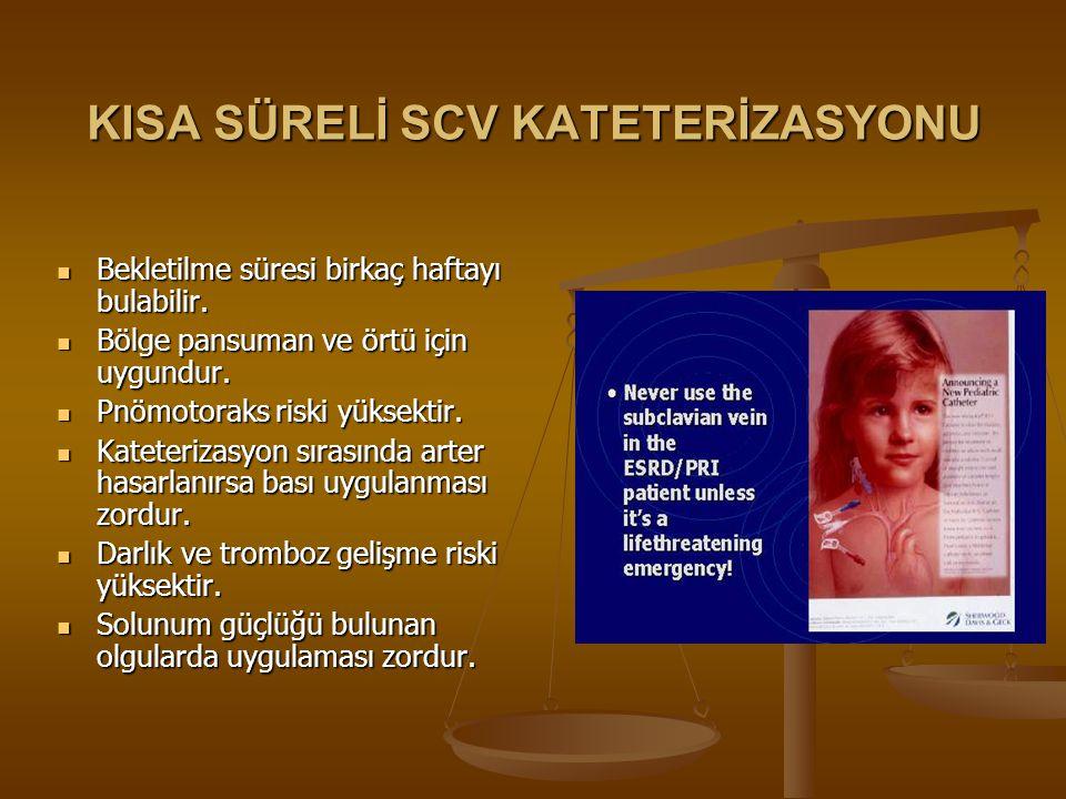 KISA SÜRELİ SCV KATETERİZASYONU