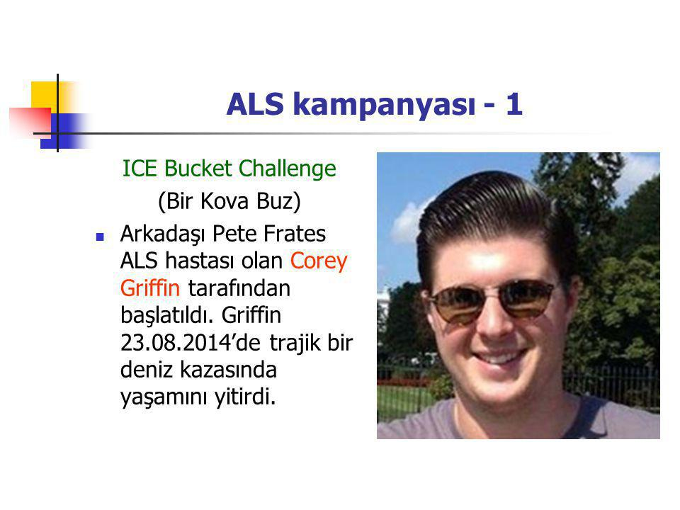 ALS kampanyası - 1 ICE Bucket Challenge (Bir Kova Buz)