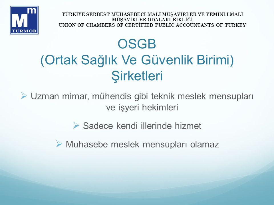 OSGB (Ortak Sağlık Ve Güvenlik Birimi) Şirketleri