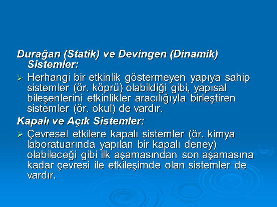 Durağan (Statik) ve Devingen (Dinamik) Sistemler: