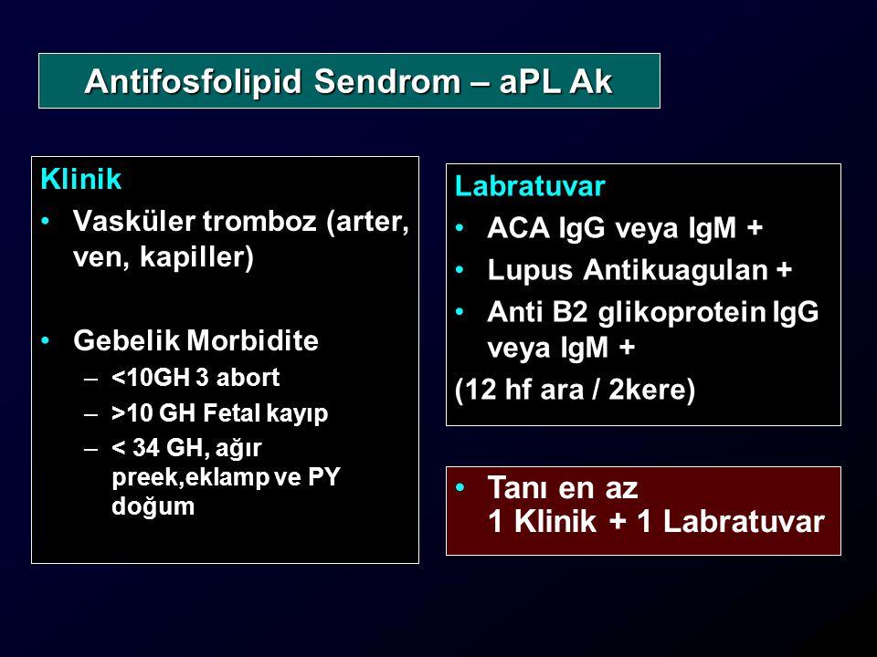 Antifosfolipid Sendrom – aPL Ak